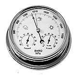 tabic chrom Barometer mit eingebautem Hygrometer und Thermometer, schwere messing Fall (1/2kg Biomüll), die wurde galvanisch mit Chrom, Segeln Schiff Yacht Dejeuner Marine Coastal Wetter Überwachung Uhr, handgefertigt in England