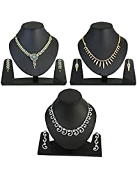 Touchstone Combo Of 3 Piece Necklace Set For Women