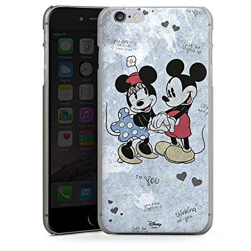 Apple iPhone X Silikon Hülle Case Schutzhülle Disney love Merchandise Geschenke Hard Case anthrazit-klar