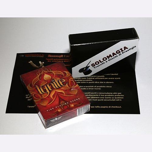 Mazzo di carte Ignite by Ellusionist - Mazzi Ellusionist - Carte da gioco - con omaggio esclusivo firmato SOLOMAGIA