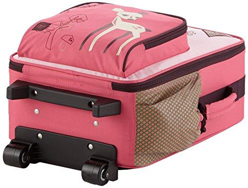 Lässig stabiler Kinder Reisekoffer/Kindertrolley mit separatem Schuh-/Wäschebeutel, Crocodile granny hellrosa