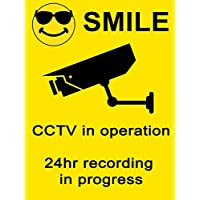 EXTERNAL CCTV in operation Self Adhesive Sticker Security - SUITABLE for OUTDOOR USE Premises Surveillance Car Van Home Office Window Door (1x CCTV Sticker)