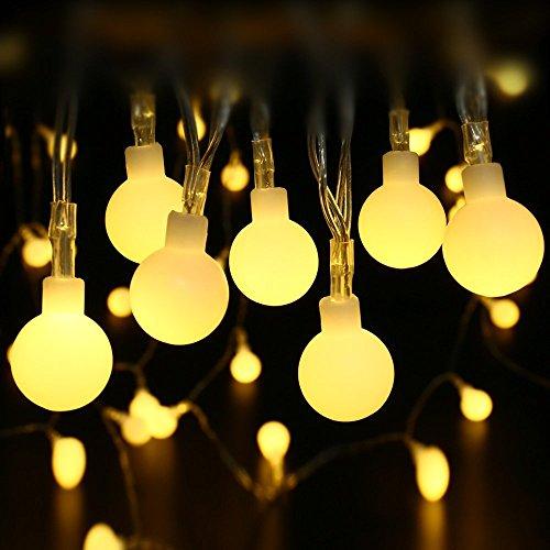 lederTEK-13m-100-luce-ghirlanda-LED-con-adattatore-interni-o-decorazione-esterna-con-Bolas-di-progettazione-bianco-caldo