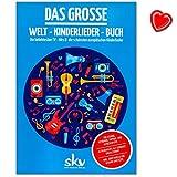 Das große Welt-Kinderlieder-Buch - Europäische Kinderlieder und die beliebtesten TV-Hits zum Singen und Musizieren für die ganze Familie - Songbook für Flöte, Gitarre, Keyboard mit Notenklammer
