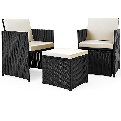 Poly Rattan Sitzgruppe 27tlg Sitzgarnitur Gartengarnitur Rattanmöbel Cube - 4