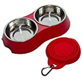 Dog Bowl That Small Pets Will Love. Stainless Steel Removable Dishes For Dog