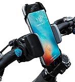 Widras - Supporto da bici e moto per telefono cellulare, adatto per iPhone 6,5, 6S Plus, Samsung Galaxy Note o qualsiasi smartphone e GPS, supporto da manubrio per bici da strada e mountain bike per Pokemon Go, donna unisex ragazza Uomo Bambino, Grey