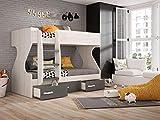Dormitorio Juvenil Completo, Subida A Domicilio, con Cama Nido y Muebles complementarios, ref-36