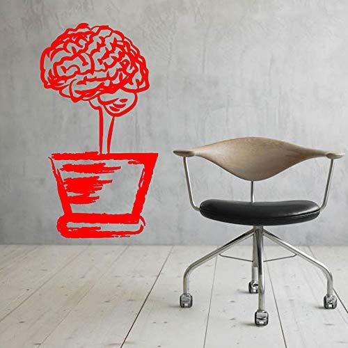 yaoxingfu Vaso di Fiori Cervello Muro Decalcomania del Vinile Scienza Ufficio Interno Home Decor Decorazione Motivazionale per la Scuola Fai da Te WW-3 57x104 cm