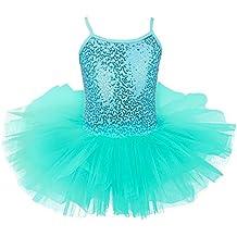 Freebily Maillot de Ballet Danza Vestido Algodón con Lentejuelas para Niña (4-8 años