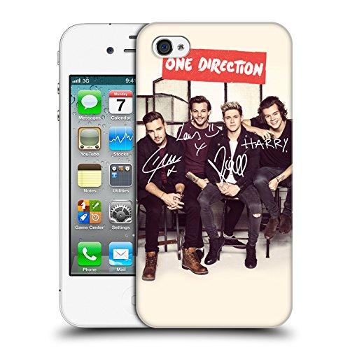 Head Case Designs Offizielle One Direction Linie BG Signierte Gruppenfotos Harte Rueckseiten Huelle kompatibel mit iPhone 4 / iPhone 4S