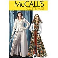 McCall's Patterns M6819 - Patrón e instrucciones para coser disfraces de mujer (de L a XXL), color blanco