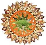 Deko-Spiegel MOSAIK BRAUN, 4 Größen, Wandschmuck, rund, verziert, Grösse:50 cm