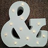 Shiningup bianco caldo decorativo illumina la lettera di alfabeto di legno DIY LED Lettera Luci Batteria azionato per la festa di nozze di vacanza Decorazione di marquee