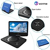 "WONNIE 9.5"" Portable DVD Player with 270° Swivel Screen, Best Gift for Kids, Support USB/SD Slot, Direct Play in Formats AVI/MP3/JPEG/RMVB (9.5, Blue)"