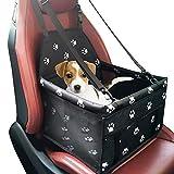 YZCX Hundebox Autositz für Hunde und Katzen Hundetasche Faltbarer Reise Träger Wasserdicht Hund Autositzbezug aus Oxford-Tuch mit atmungsaktivem Netz-Garn mit Verstellbarem Sicherheitsgurt