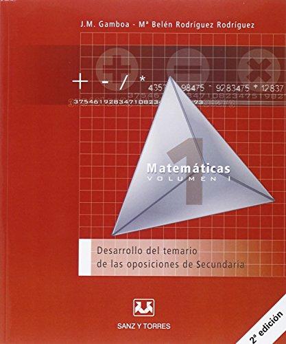 Desarrollo del temario de las oposiciones de secundaria matematicas - 9788496808317 por Maria Belen Rodriguez