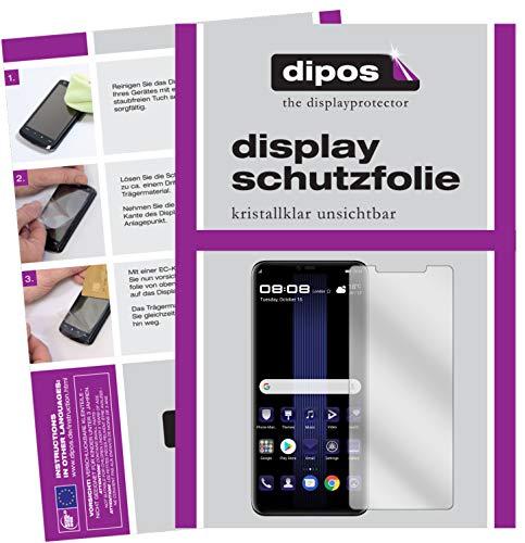dipos I 2X Schutzfolie klar passend für Huawei Porsche Design Mate 20 RS Folie Bildschirmschutzfolie