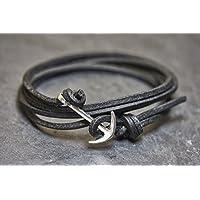 Anker Partnerarmband schwarz