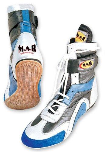 M.A.R International Ltd echtes Leder Boxing Schuhe Stiefel Training Schuhe Gym Sparring Gear