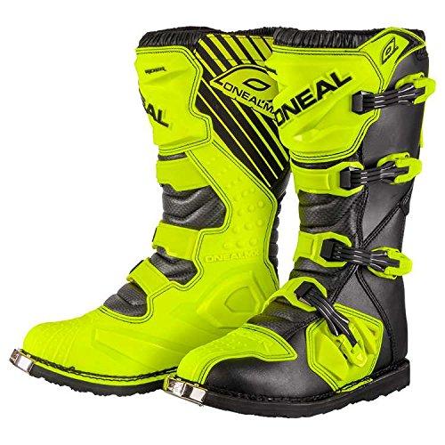 O'Neal Rider Boot MX Stiefel Hi-Viz Neon Gelb Motocross Enduro Motorrad, 0329-5, Größe 43