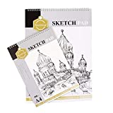 #4: Kurtzy A4 & A3 Artist Sketch Pad Book Spiral Bounded Drawing Sketching Activity for Kids Children 160GSM