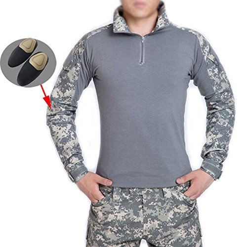 ATAIRSOFT männer BDU Combat Langarm Tarnhemd Mit Ellbogenschutz Schutz für Militärische Armee Airsoft ACU S -
