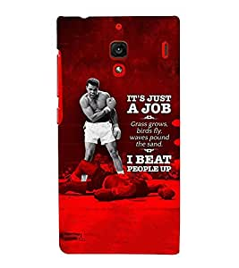 Takkloo its just a job I beat people up boxer,a fit man, inspirational quote, red background) Printed Designer Back Case Cover for Xiaomi Redmi 1S :: Xiaomi Hongmi 1S