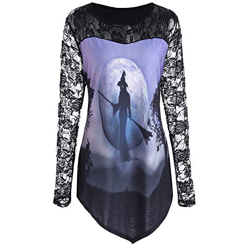 Tanks Tops Halloween Bluse, Hexe Drucke Casual Sleeveless Workout Oansatz Tank Tees Punk Weste - Heavy Metal Mädchen Kostüm