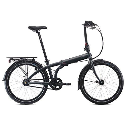 """Tern Faltrad Node D7i 24"""" 7 Gang Klapp Fahrrad City Rad Faltbar Gepäckträger Kompakt Alu, CB14GFAO07Z, Farbe grau"""