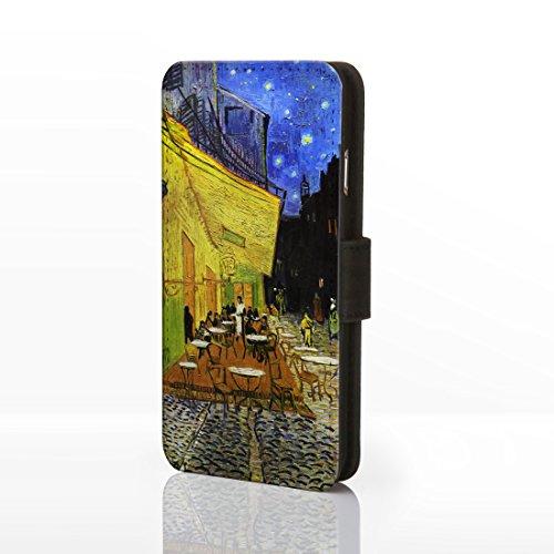Classic Art Collection Fällen für das iPhone Reihe. bekannten Künstlerin Gemälde Bezüge, Kunstleder, 11: Cafe Terrace at Night - Vincent Van Gogh, iPhone 6/6S (Iphone 6 Fällen Vincent Van Gogh)
