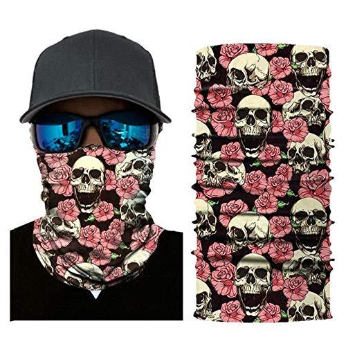 Wulihong-mascherare maschera da equitazione per esterno ciclismo moto foulard scaldacollo sport maschera da sci passamontagna fascia per capelli halloween usa g