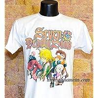 Meliodas, maglia bianca, maglietta t-shirt, felpa, canotta, Seven Deadly Sins Nanatsu no Taizai