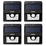 Solalite® FOUR PACK 8 LED Security Garden Solar light, 3-in-1 Solar Wall Lights Outdoor Waterproof Solar Power Lights with 120 Degree Wide Angle Motion Sensor Solar for Garden, Patio, Path Lighting