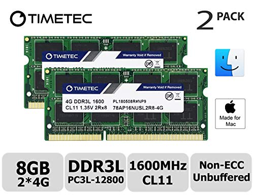 Timetec Hynix IC 8GB Kit (2x4GB) DDR3 1600MHz PC3-12800 SODIMM Memory Upgrade für Mac (8GB Kit (2x4GB)) (Ddr3-1600 8gb Mac)
