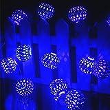 LED Lichterkette Batterie,Ryham 1.5M 4.9ft 3V 12LED Weihnachtslichterketten LED Au?en Innen f¨¹r Weihnachten/Hochzeit/Party/Weihnachtsbaum,blau