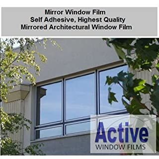 152cm x 3 Metre - Silver Reflective Window Film (Solar Control & Privacy Tint - One Way Mirror / Mirrored Glass)