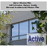 76cm x 4 Metre - Silver Reflective Window Film (Solar Control & Privacy Tint - One Way Mirror / Mirrored Glass)