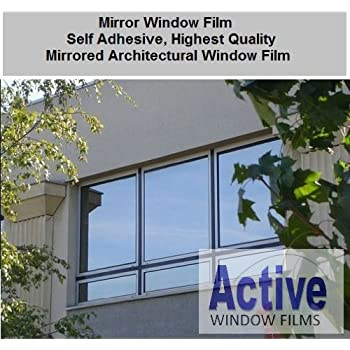 1 metre x 3 metre silver reflective window film solar control u0026 privacy tint one way mirror mirrored glass