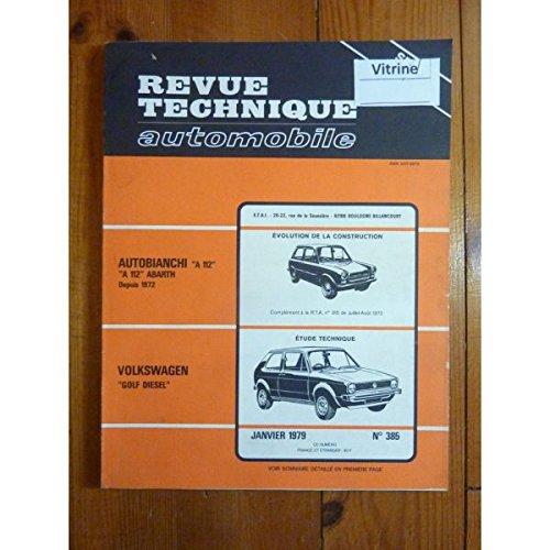 RTA0385 - REVUE TECHNIQUE AUTOMOBILE VOLKSWAGEN VW GOLF Diesel