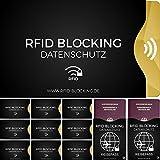 RFID Blocking NFC Schutzhülle (12 Stück) für Kreditkarte, Personalausweis, EC-Karte, Reisepass, Bankkarte etc. - 100% Schutz vor Datenklau durch Abschirmung der kontaktlosen Funk-Chips in Kreditkarten