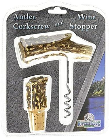 Rivers Edge Deer Antler and Bottle Stopper (Corkscrew)