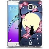 Head Case Designs Chat Fleurs Rêveuses Étui Coque en Gel molle pour Samsung Galaxy A5 (2016)