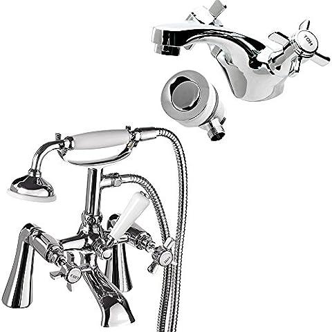 Doccetta Tradizionale Leva Miscelatore con miscelatore per vasca da bagno