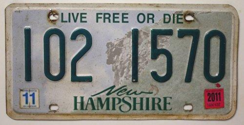 USA Nummernschild NEW HAMPSHIRE ~ US Kennzeichen License Plate ~ Blechschild