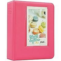Brappo Instax Mini Álbum de Fotos para Fujifilm Instax Mini 7s / Mini 8/8 + Mini / Mini 9/25/70 Mini Mini / Mini 90 / Polaroid PIC-300P / Polaroid Z2300 película con etiquetas coloridas (Flamingo Rosa)