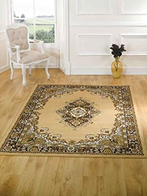 Element Lancaster Beige Contemporary Rug Rug Size: 250cm x 180cm (8 ft 2.5 in x 5 ft 11 in) produced by Lord of Rugs - quick delivery from UK.