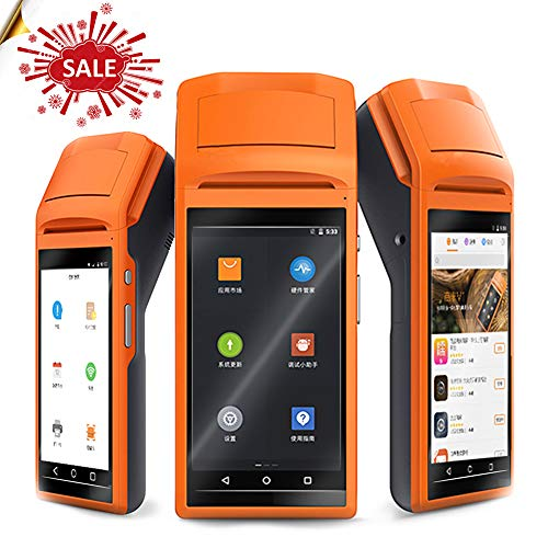 Handheld Wireless Bluetooth Thermal Receipt Printer Touch Screen usb SIM Headphone Android WIFI GPRS Moblile POS Terminal System (Android Kamera Thermische)