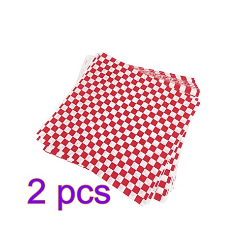 UPKOCH 400PCS Deli Paper Red White Grid Fried Food Wrap Paper Liners for Pizza Fried Chicken Baking Pastry