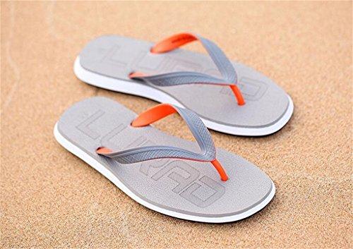 ALUK- Sandales d'été - Décontracté Antidérapant Hommes confortables Chaussons résistant à l'usure Chaussures de plage ( Couleur : Gray , taille : 42 ) Gray